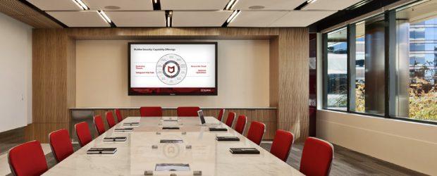 McAfee boardroom