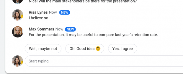 Google - G Suite - Smart Reply