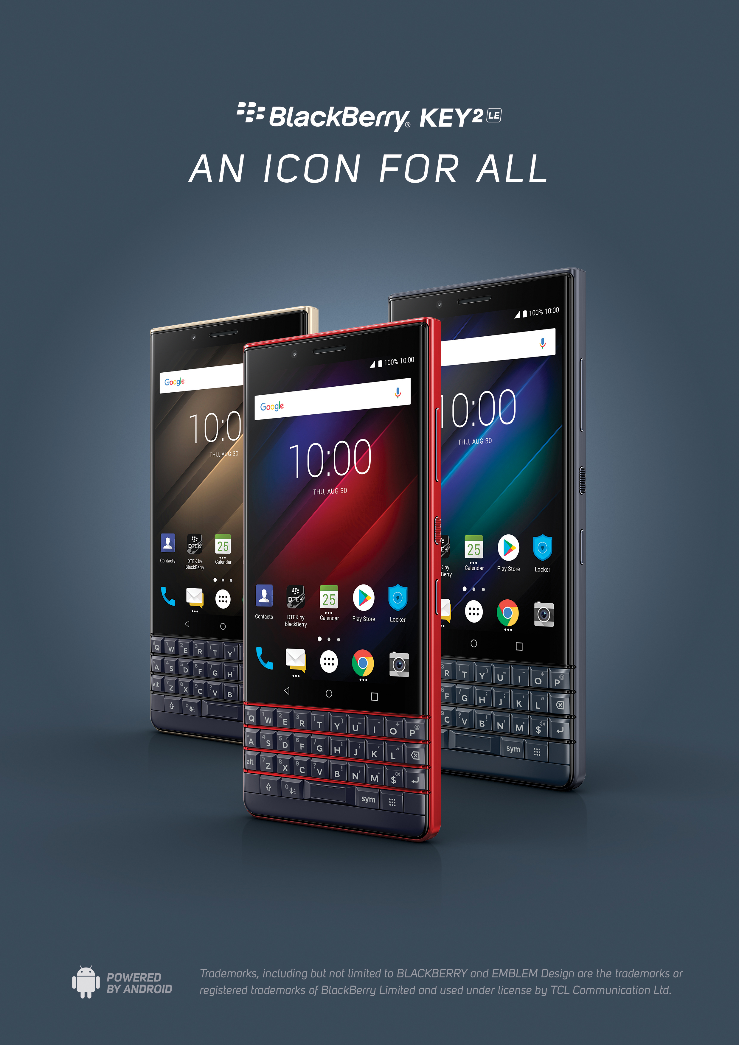 BlackBerry KEY2 LE Hero Image