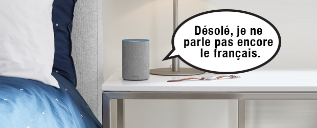 Alexa can't speak french - illustration