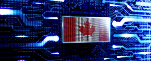 Graphic with Canadian flag