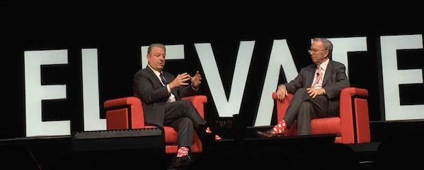 Al Gore and Eric Schmidt at Elevate Toronto