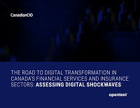 The Road to Digital Transformation in Canada's Financial Services and Insurance Sectors