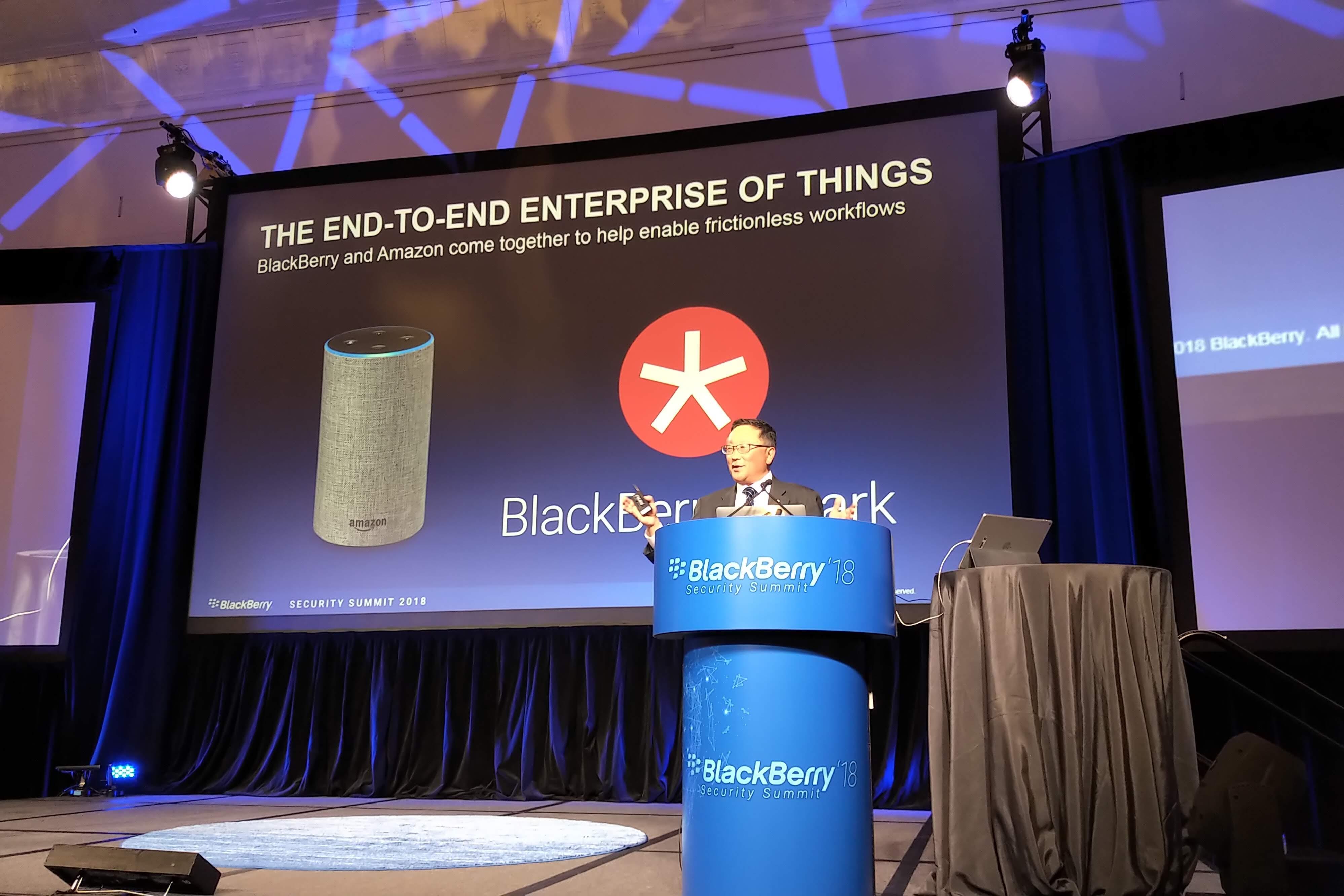John Chen announces Amazon partnership