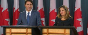 Trudea and Freeland - USMCA announcement