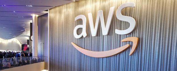 AWS logo at Reinvent Las Vegas