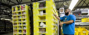 Amazon fulfillment picker with robot