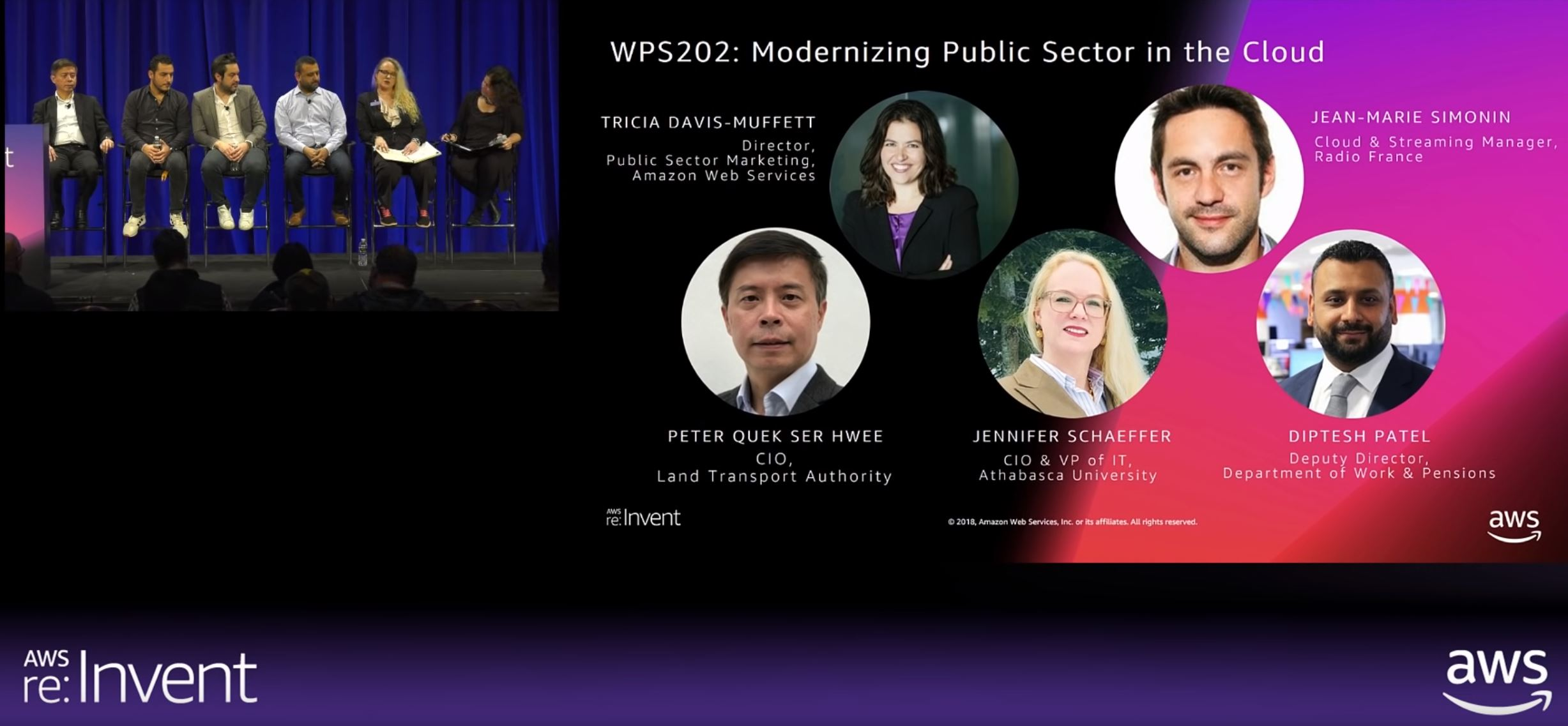 Jennifer-Schaeffer on Modernizing Public Sector panel - AWS ReInvent