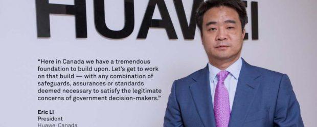 Huawei Canada president Eric Li