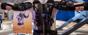 Ford EksoVest exoskeleton at Auto Show