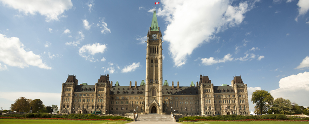 Photo of Parliament Hill in Ottawa