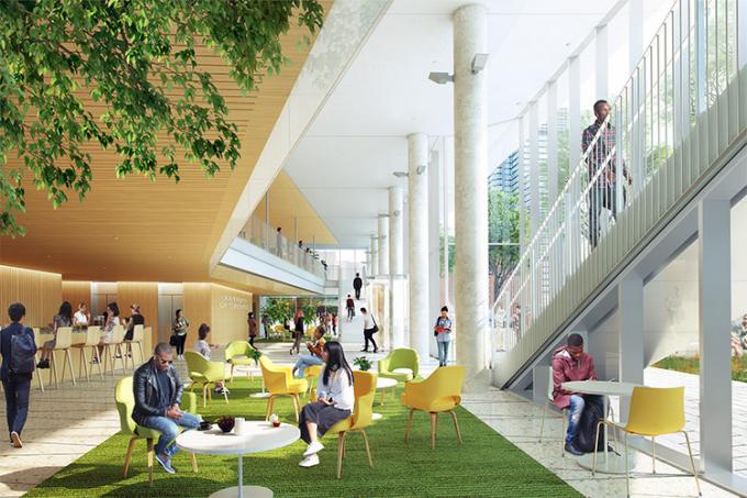 University of Toronto Schwart Reisman Innovation Centre lobby