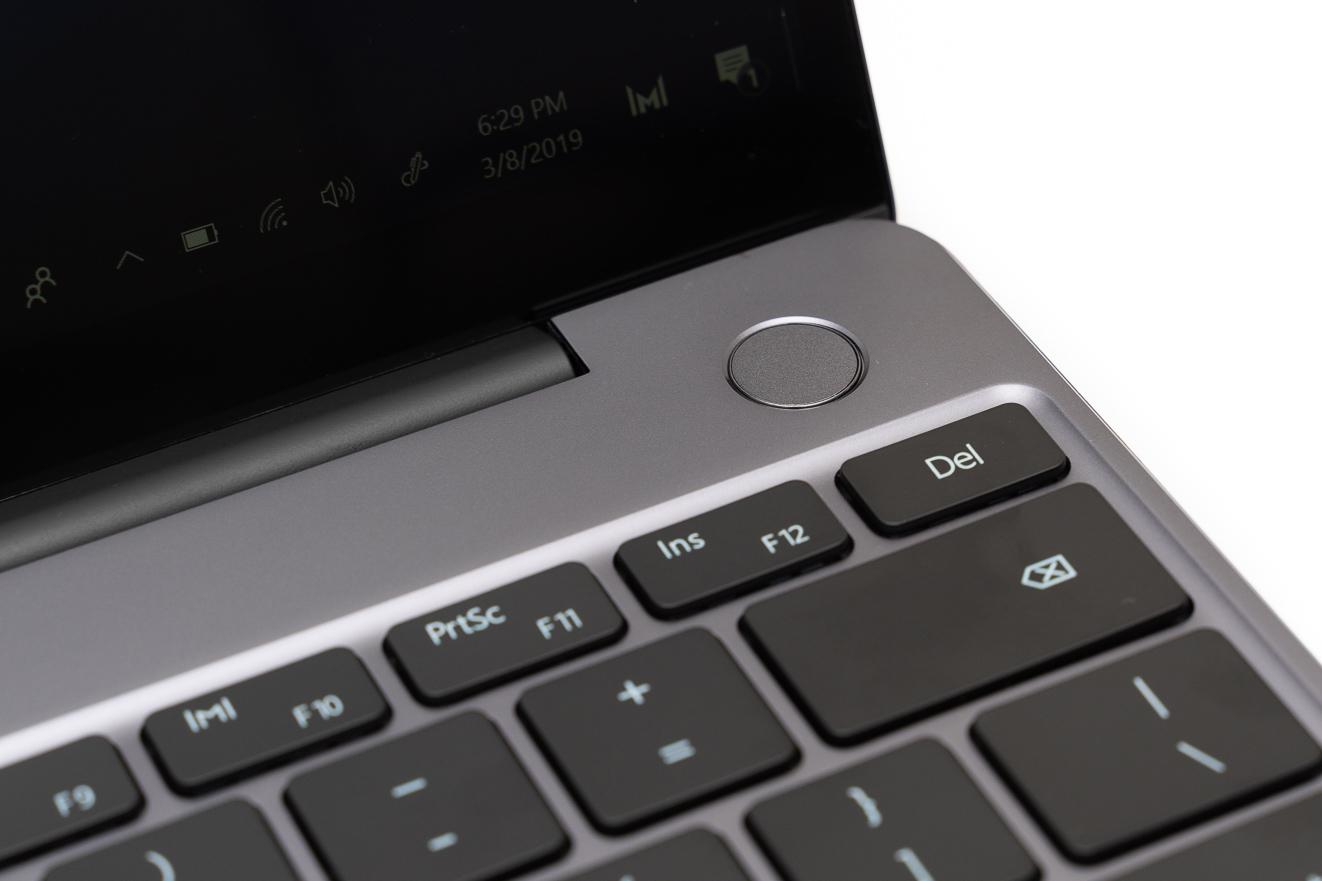 Huawei Matebook 13 fingerprint reader