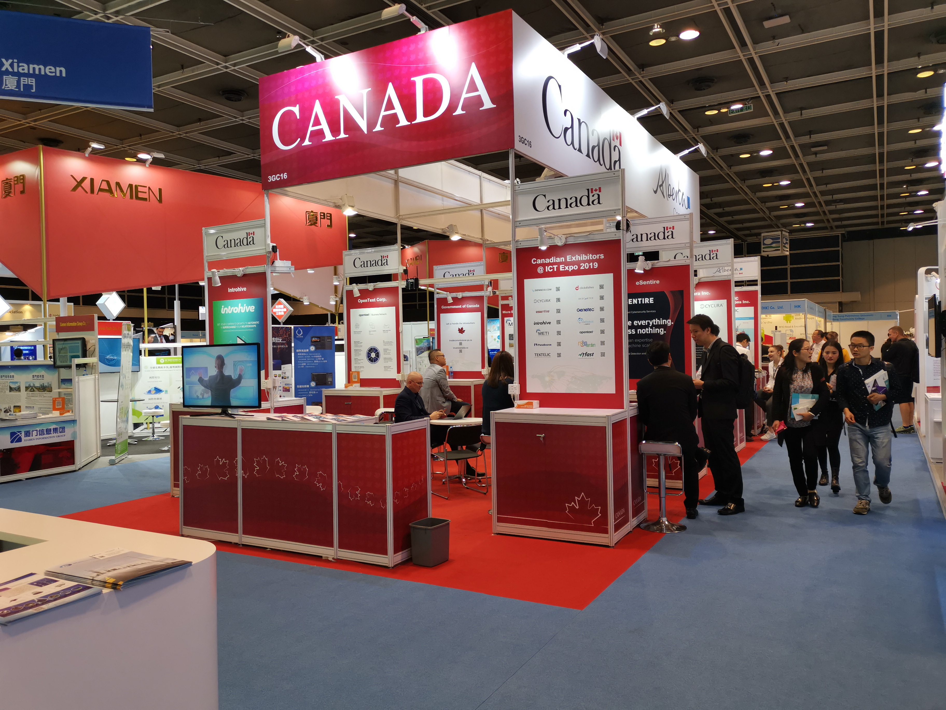 Canada booth at Hong Kong ICT Expo