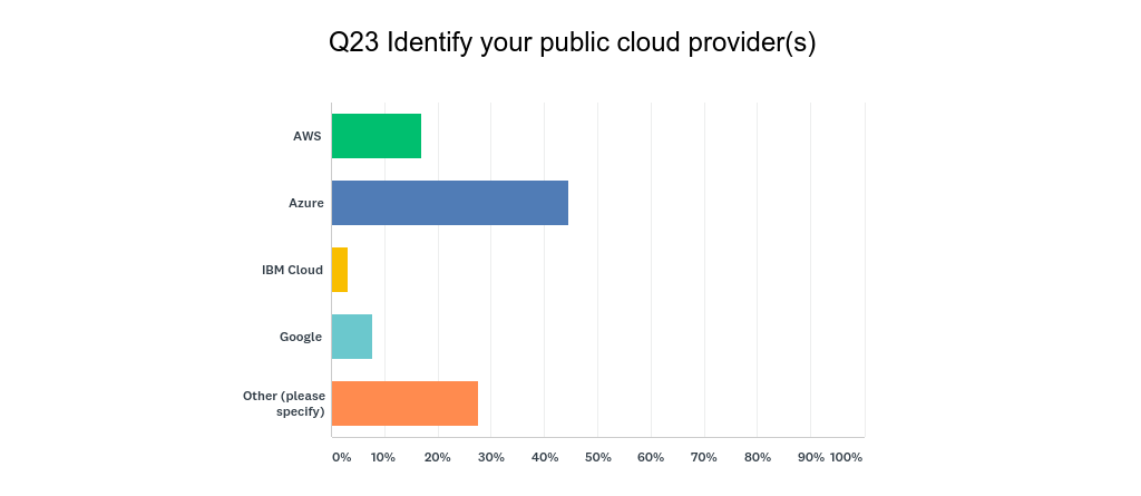 Q23 Identify your public cloud providers