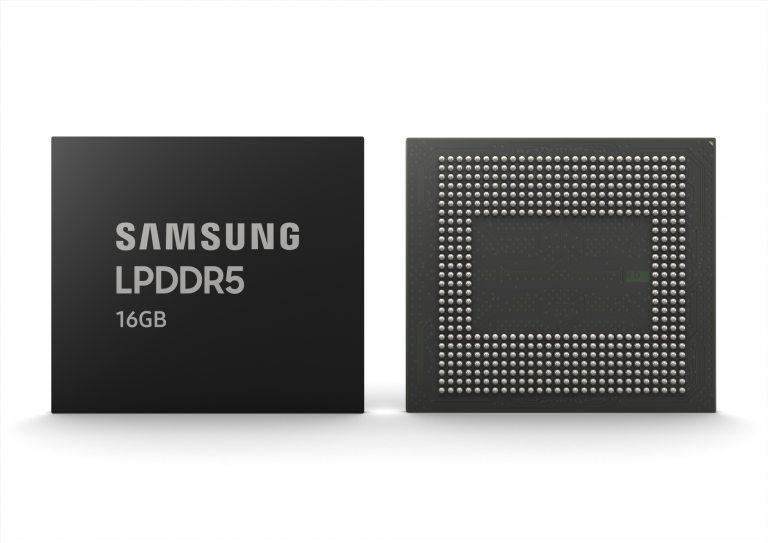 Samsung 16GB LPDDR5 DRAM enters mass production