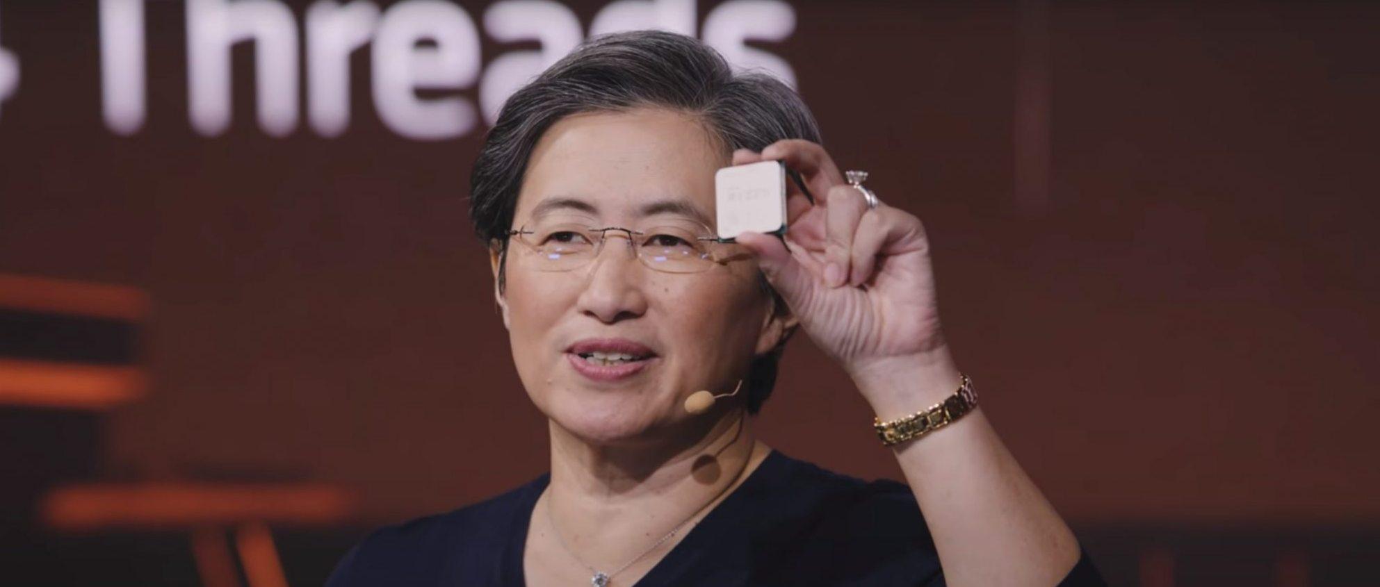 Lisa Lu holding AMD ZEN 3