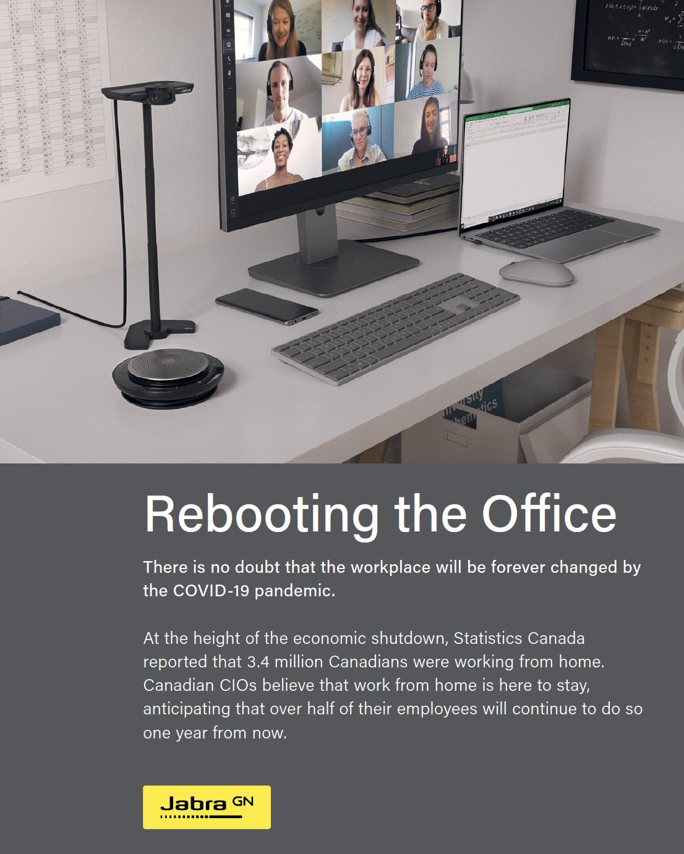 Computer on office desk