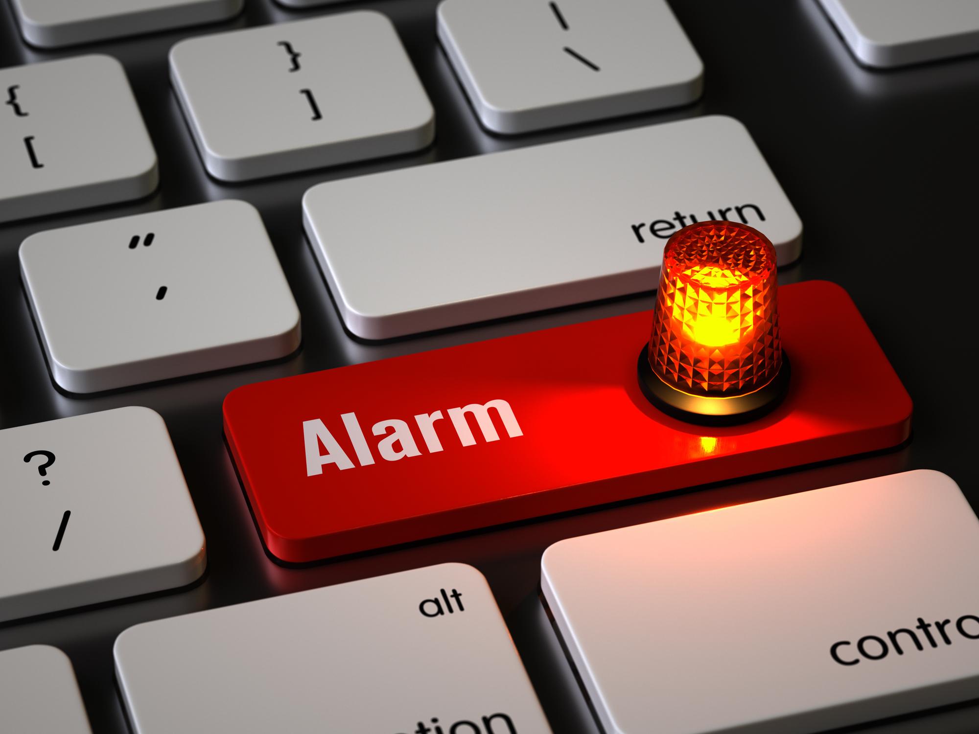 Alarm button on keyboard