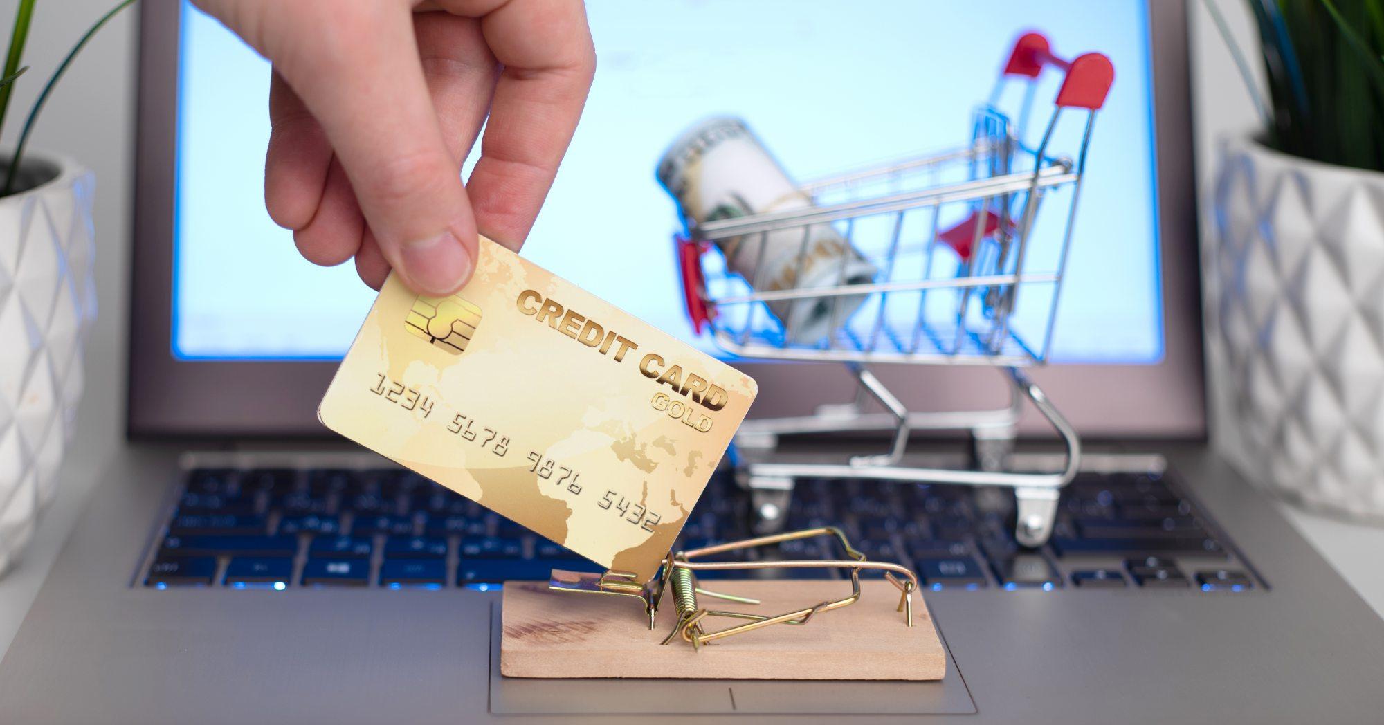Credit card in a trap