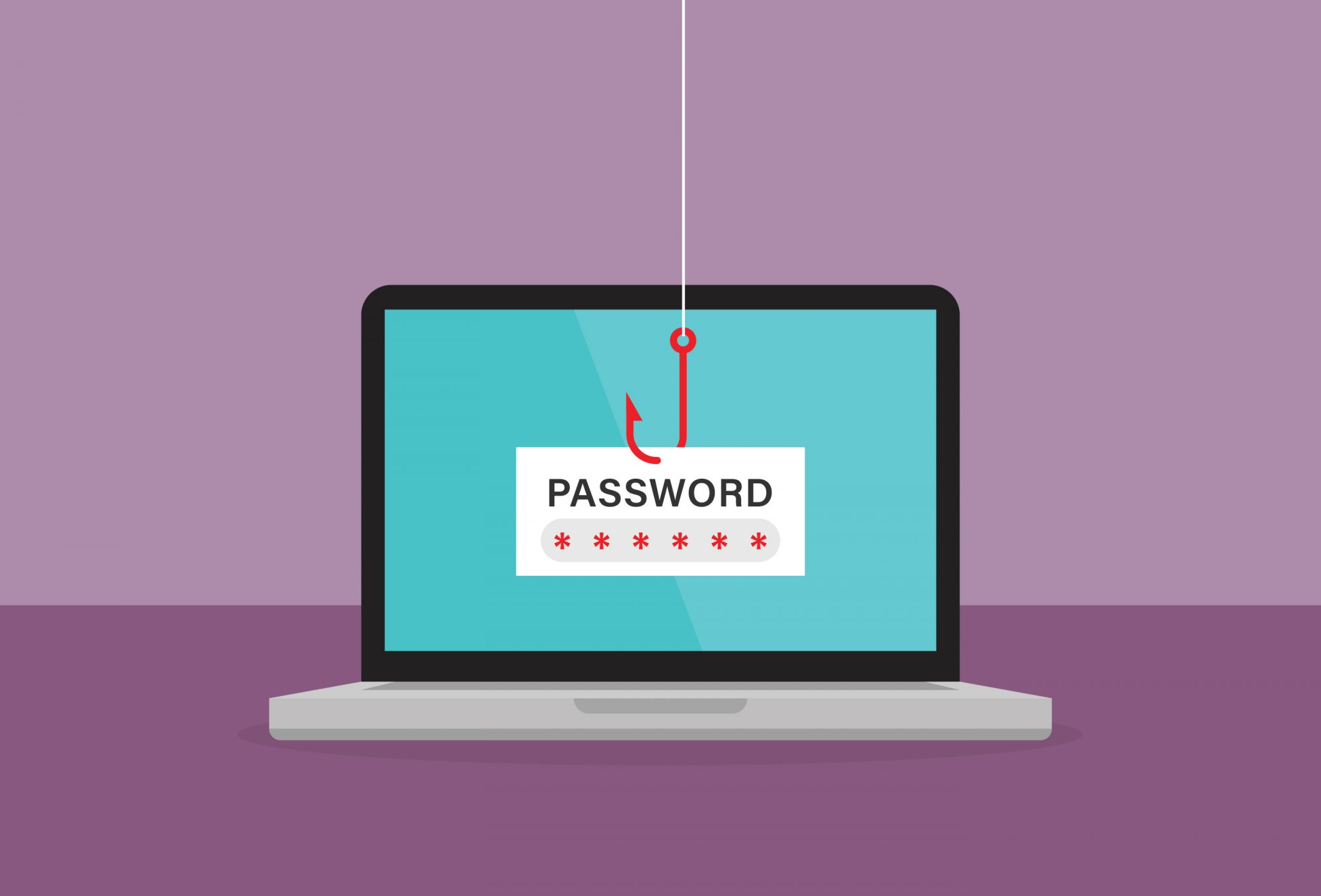 Fishing hook stuck on password popup