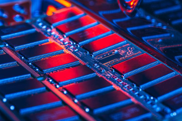 PC RAM close up