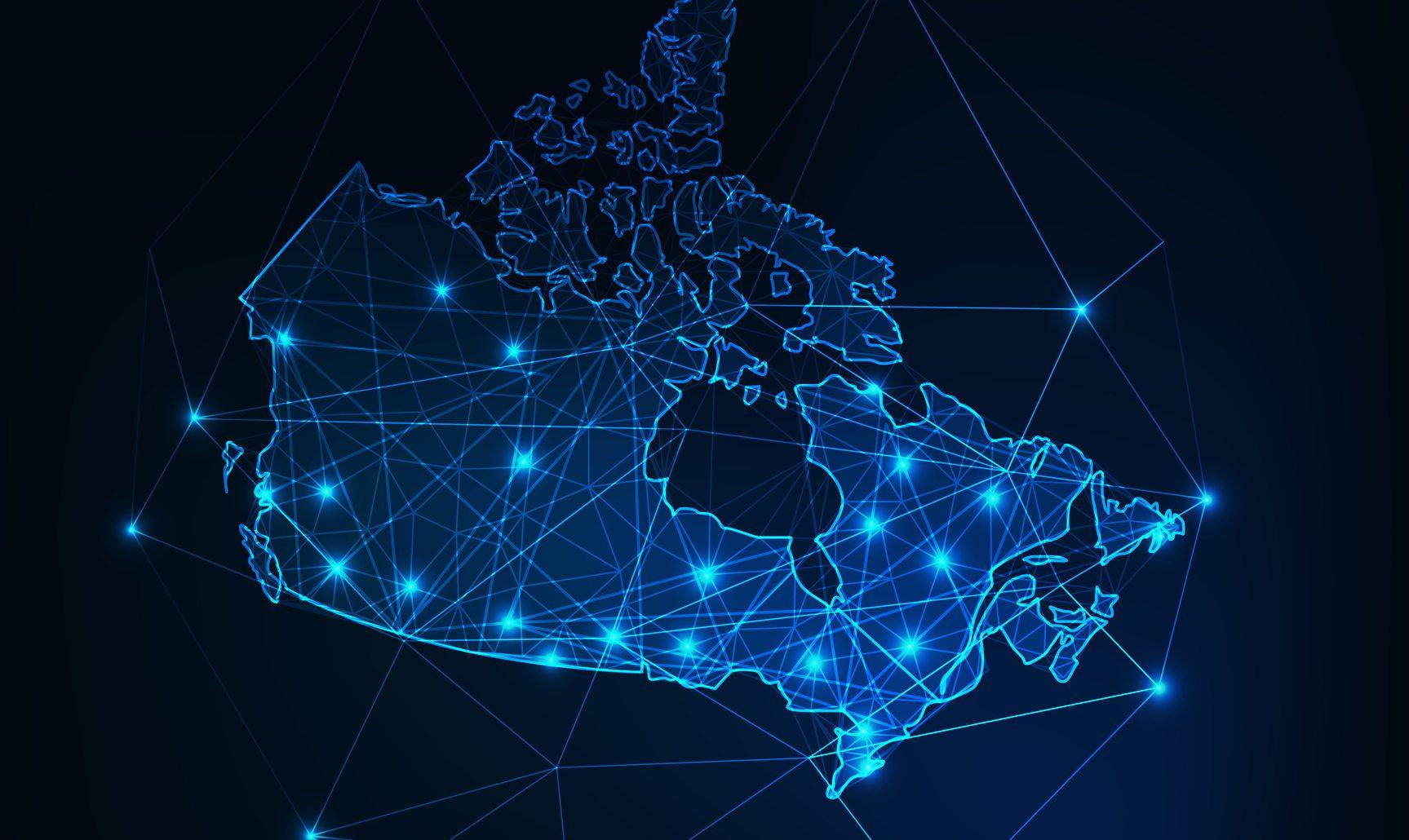 Cyber Canada map