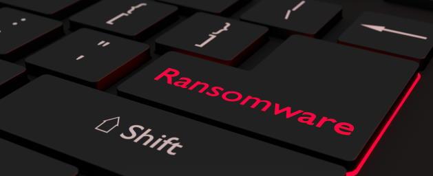 Ransomware keyboard key