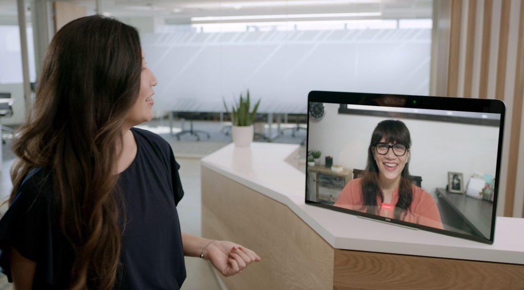 Two women chatting virtually