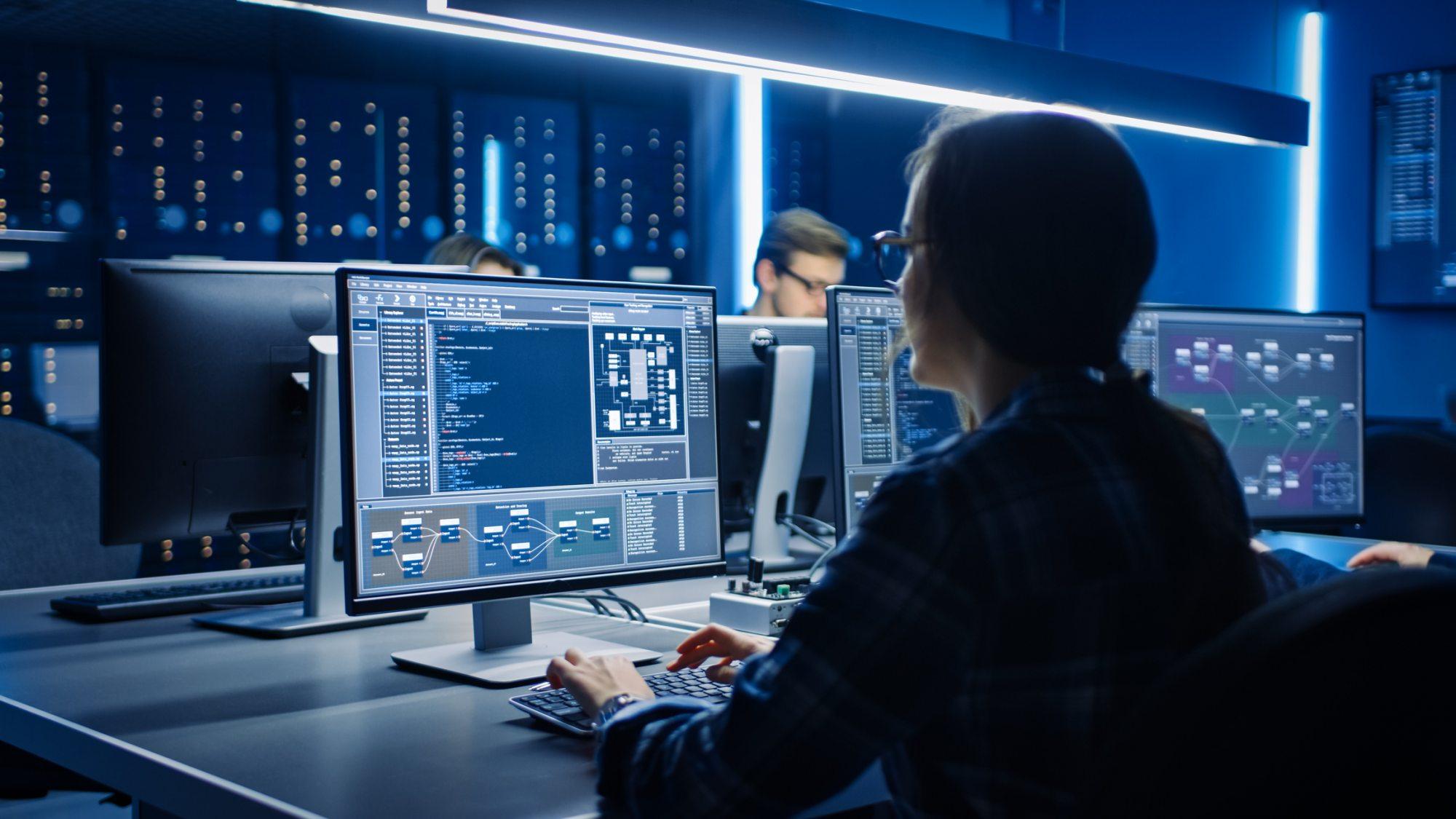 cybersecurity women background