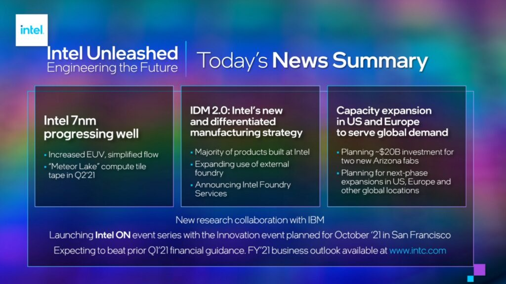 Intel Unleashed news at a glance