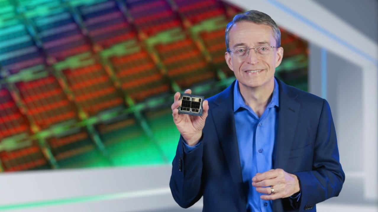 Intel CEO Pat Gelsinger showcasing Ponte Vecchio