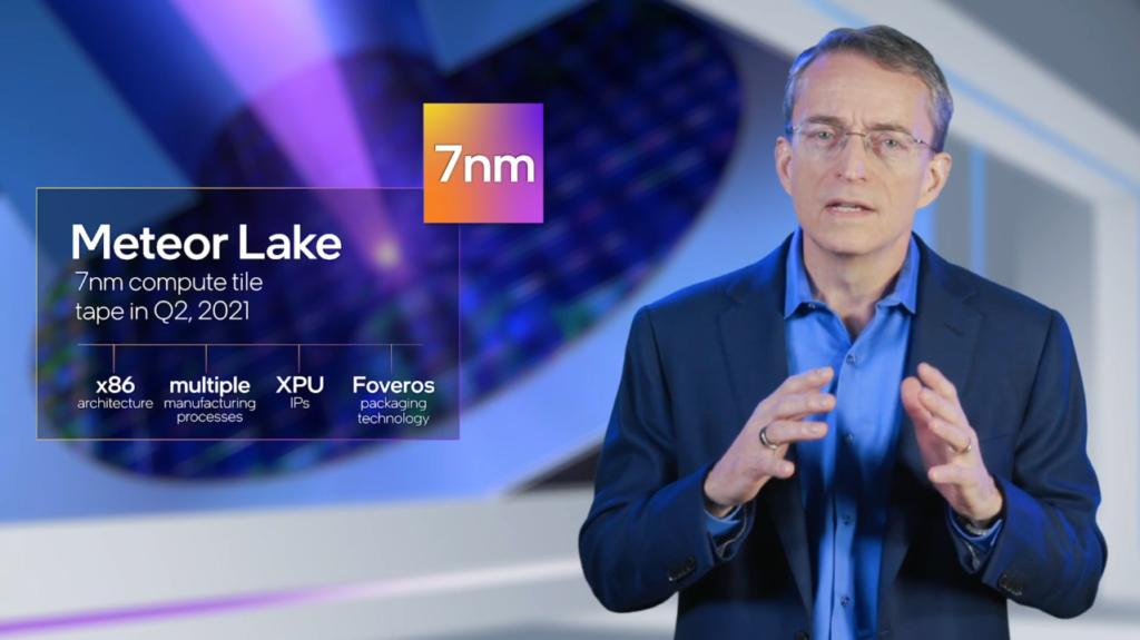 Intel's Pat Gelsinger describing Meteor Lake
