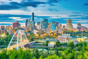 Photo of Skyline of downtown Edmonton, Alberta, Canada | benedek | Getty Images