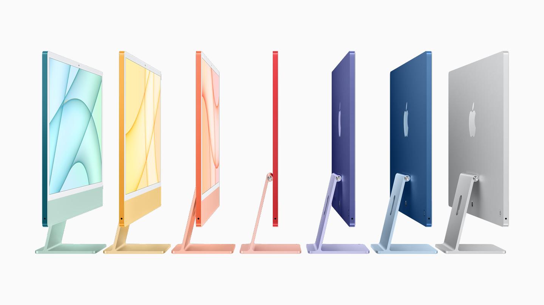 Apple iMac 2021 profile shot and colors