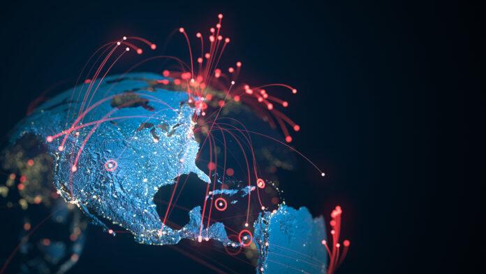 Global cybersecurity concept art