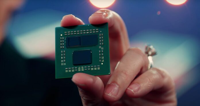 AMD CEO Lisa Su shows off the Ryzen 9 5900X CPU with 3D V-Cache at Computex 2021