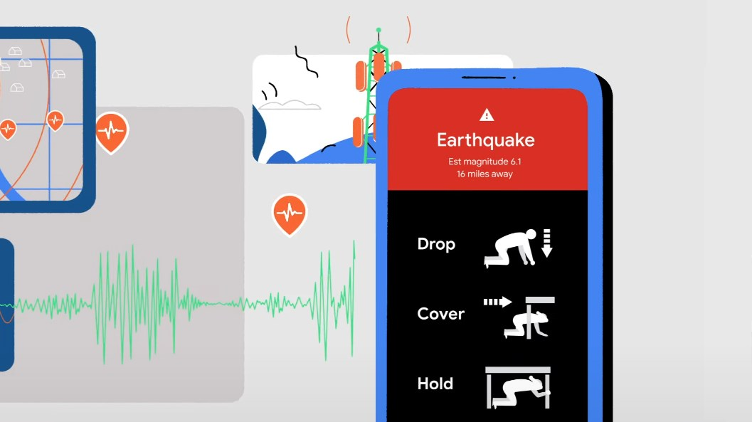 Google Earthquake illustration.