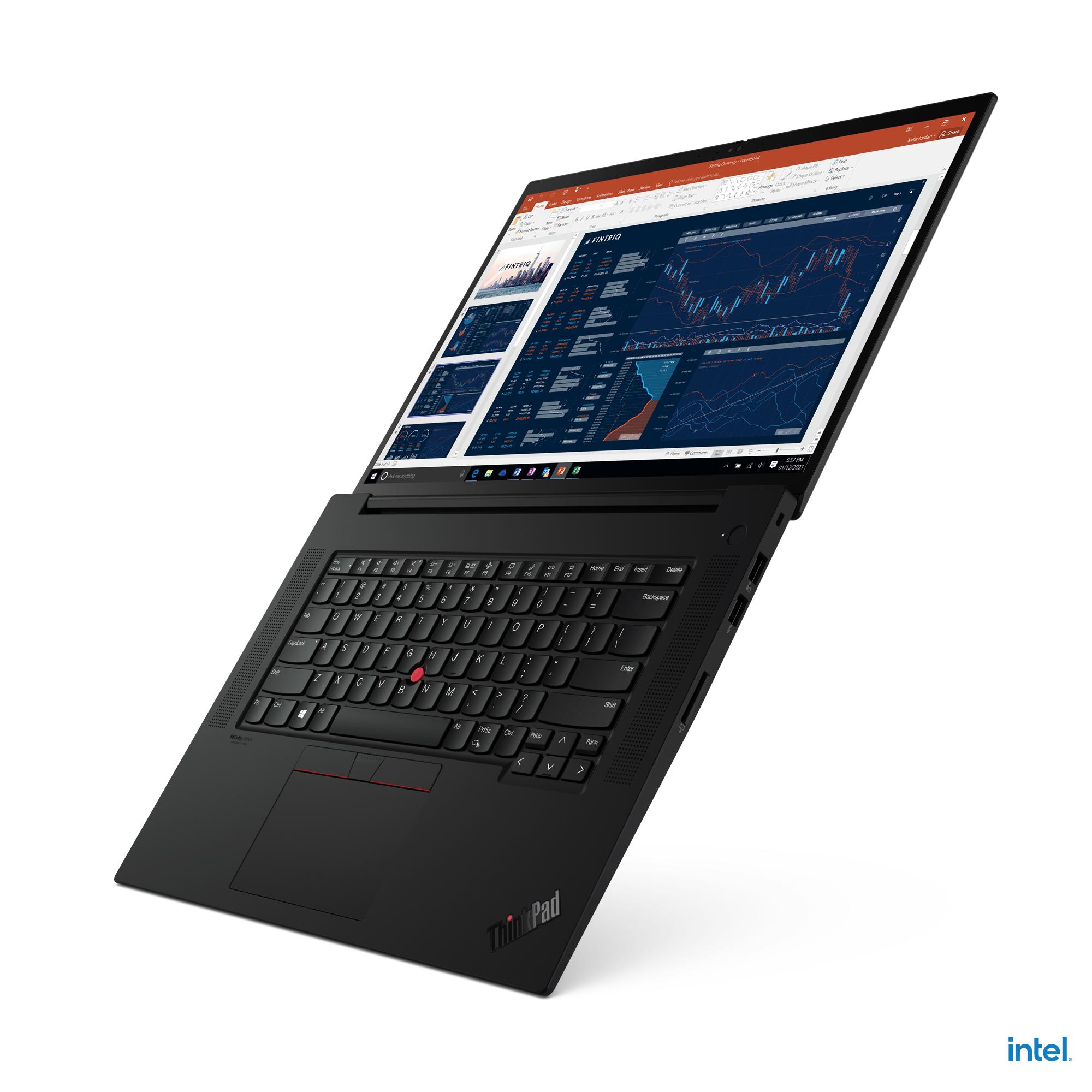 The ThinkPad X1 Extreme fully unfolded.