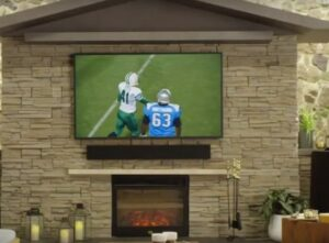 image of the terrace outdoor TV