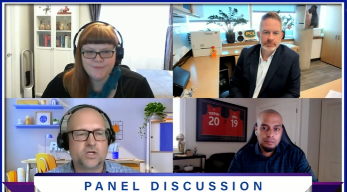 Screenshot of panel discussion