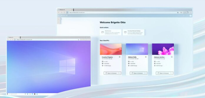 screenshot demonstrating Windows 365