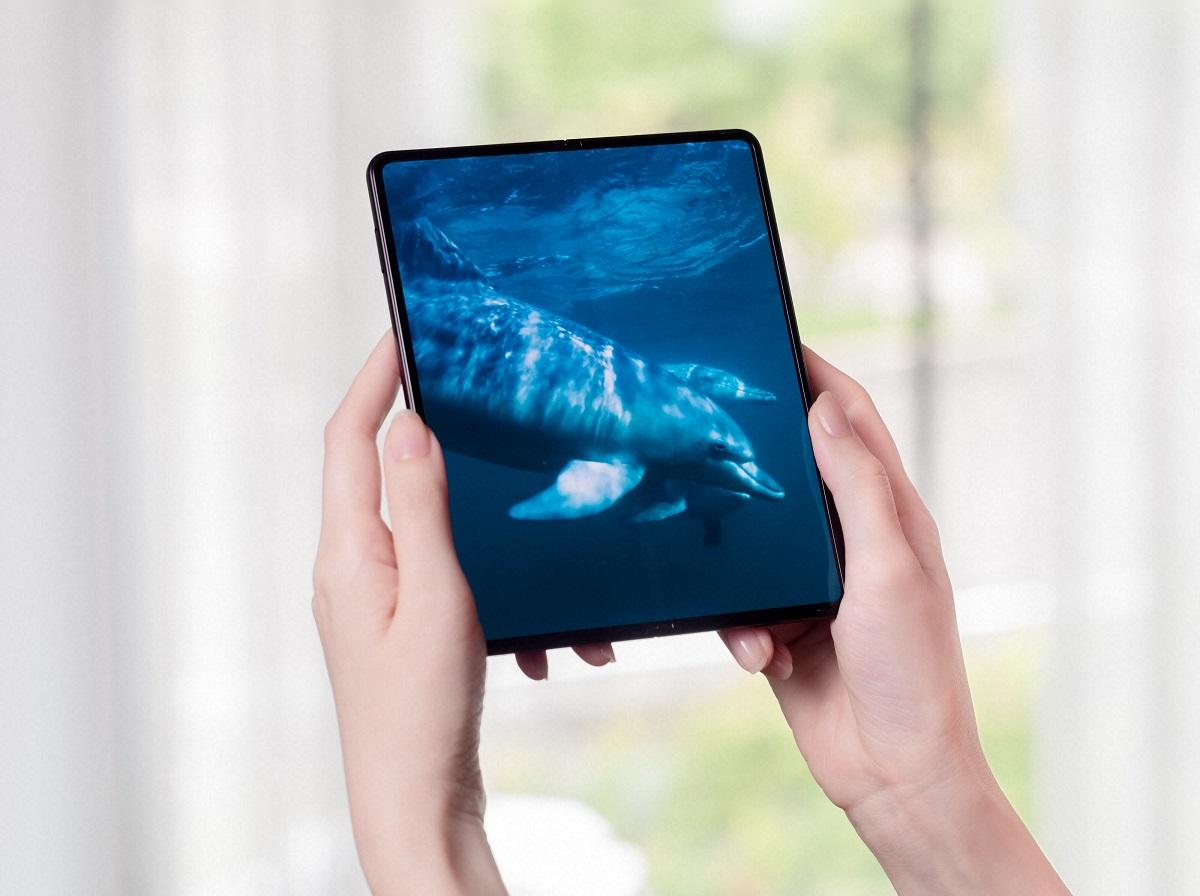 The Galaxy Z Fold3 5G unfolds into a massive screen.