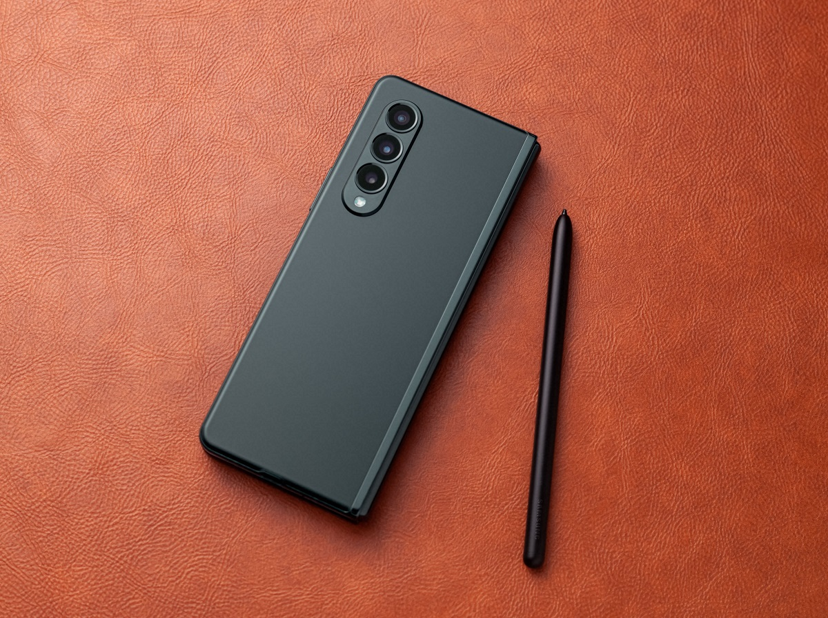 The Galaxy Z Fold3 5G with the S Pen