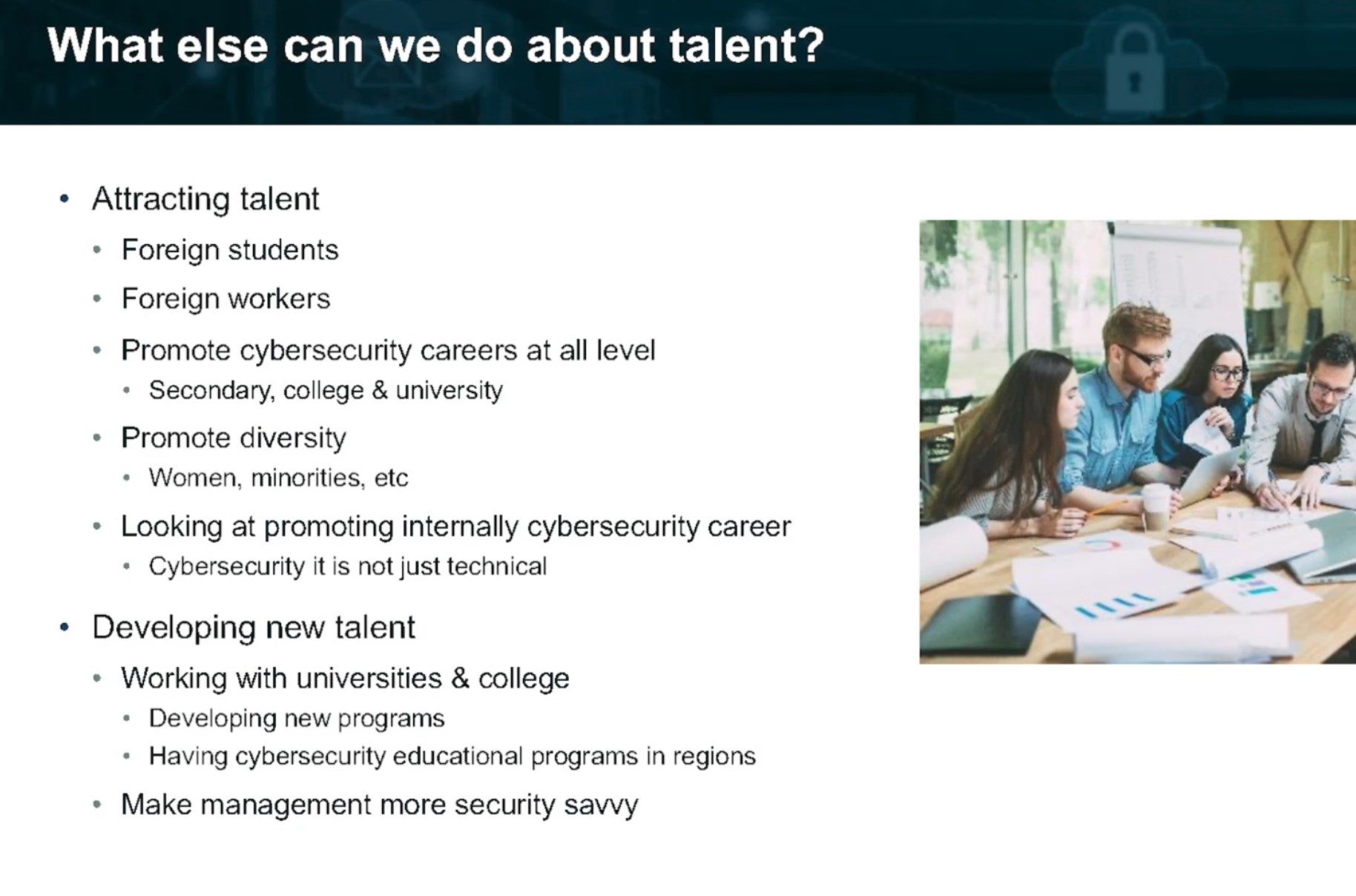 Filling the talent gap will need diversity.
