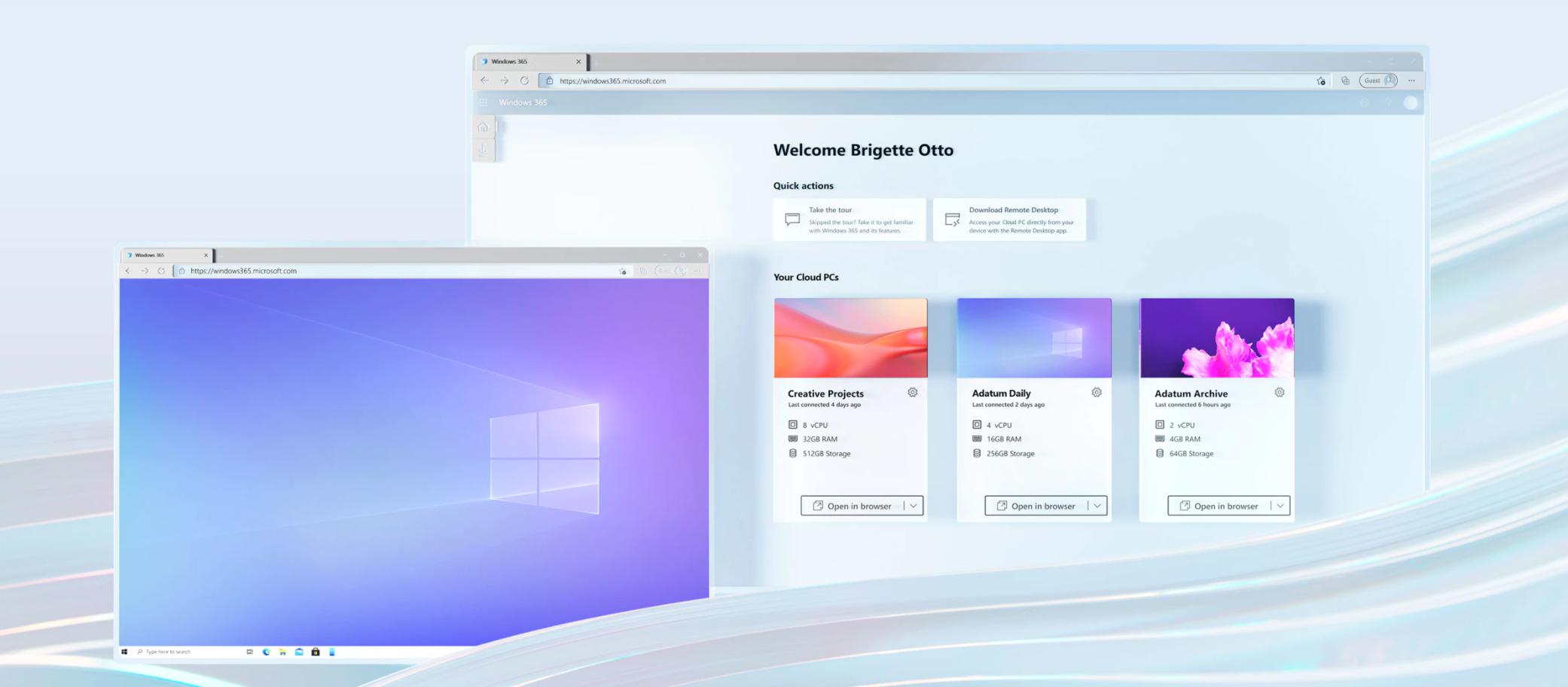 Windows 365 interface