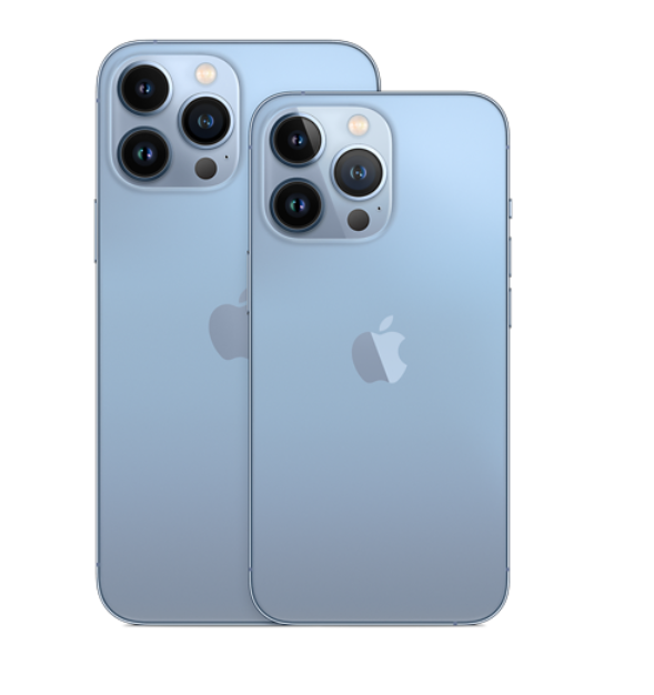 The Apple iPhone 13 Pro and Pro Max rear view.